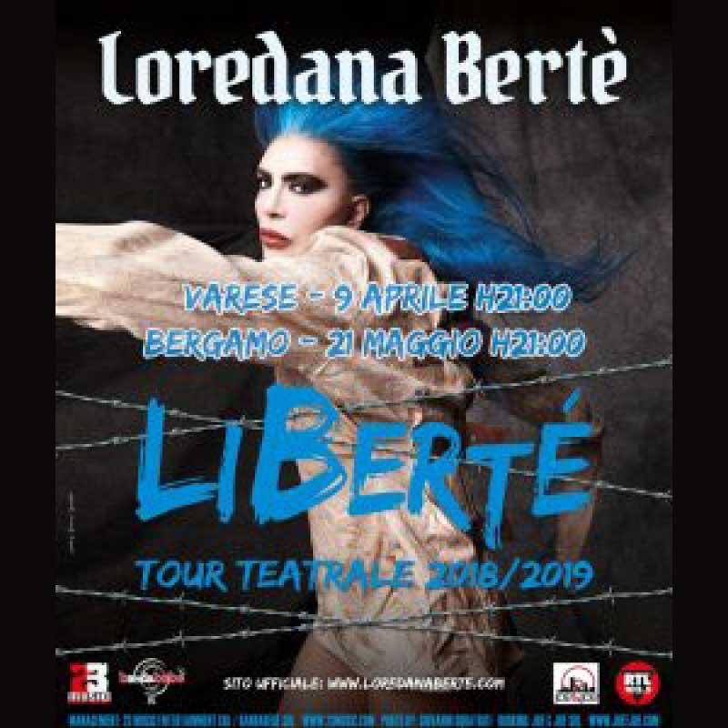 locandina tour loredana berè libertè tour varese bergamo