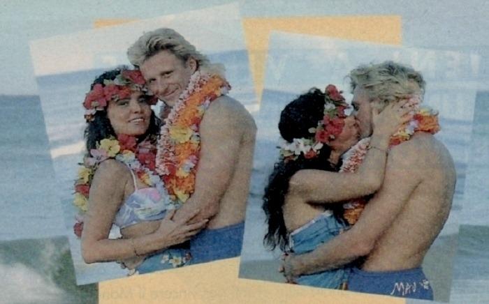 loredana berè alle hawaii con bjorn borg